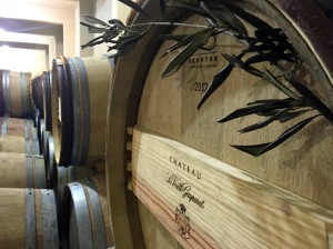 Corbieres winery barrels