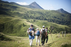 Hiking in the Pyrenees Mountains.