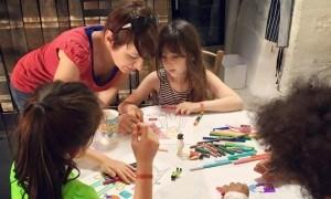 Angie teaching kids