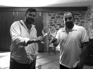 Matt Saunders with Corbieres winery operator.