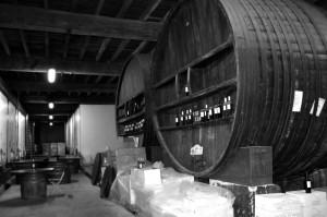 Giant wine barrels