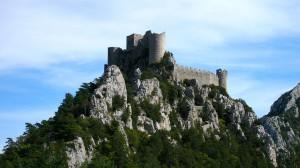 Cathar castle ruins.