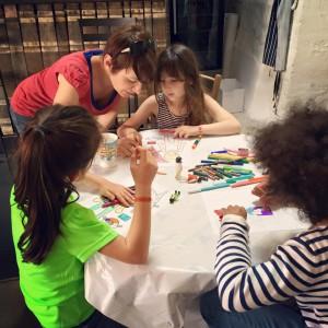 Children's art workshop.
