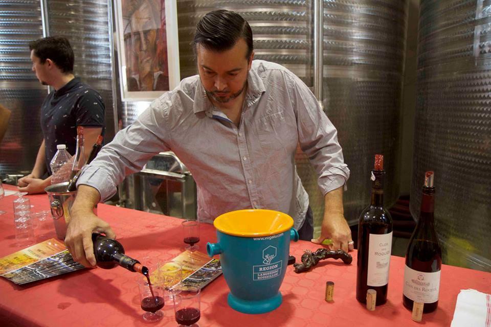 Matt at wine tasting